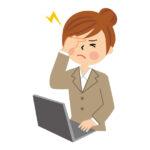 頭を痛がる女性のイラスト