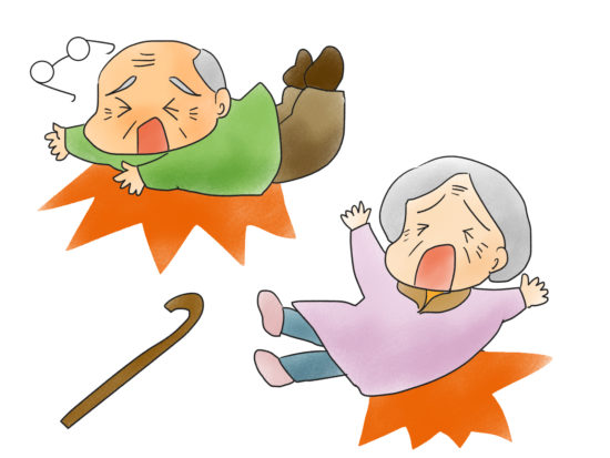 高齢者の転倒イラスト