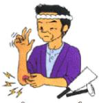 変形性肘関節症の症状のイラスト
